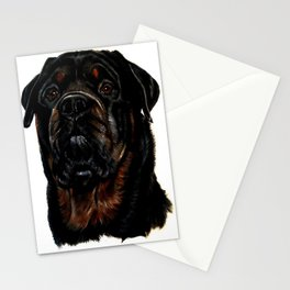 Male Rottweiler Stationery Cards