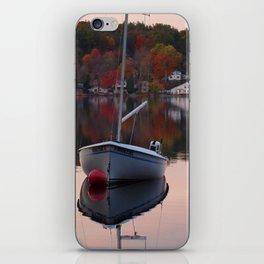 Sail Boat In Fall iPhone Skin