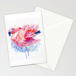 Flamingo on the Water Stationery Cards