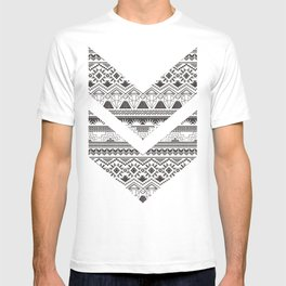 CRYSTAL AZTEC B/W  T-shirt