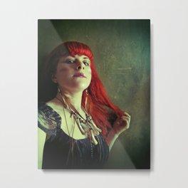 Tribal Bones Girl Metal Print