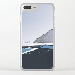 Vik Reynisfjara Black Sand Beach, Iceland Clear iPhone Case