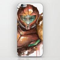 samus iPhone & iPod Skins featuring Samus by Alonzo Canto