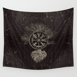 Vegvisir  and Tree of life  -Yggdrasil Wall Tapestry