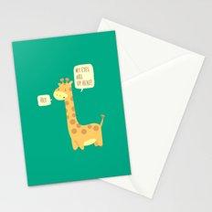 Giraffe problems! Stationery Cards