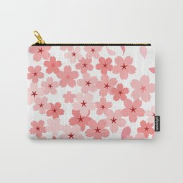 Cherry Blossom in Wind Carry-All Pouch