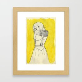Self in Yellow Framed Art Print