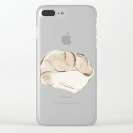 Croissaunter Away With my Heart (and wallet) Clear iPhone Case
