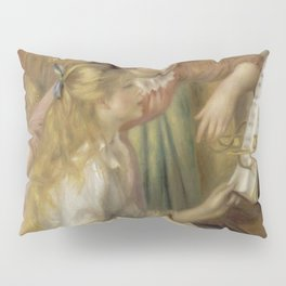 """Auguste Renoir """"Young Girls at the Piano"""" Pillow Sham"""