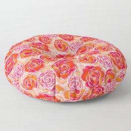 Primroses Orange Hype Floor Pillow