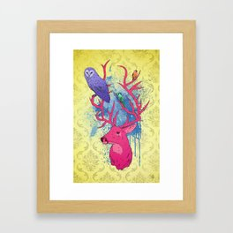 Antlers Variation II Framed Art Print