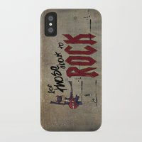 acdc iPhone & iPod Cases featuring For Those About To Rock by Even In Death