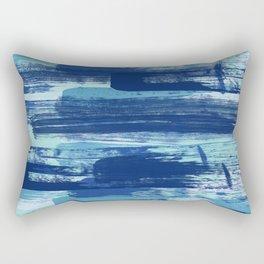 Blue Brush Strokes  Rectangular Pillow