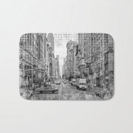 Graphic Art NEW YORK CITY 5th Avenue | Monochrome Bath Mat