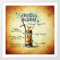 tequila Art Prints featuring Tequila Sunrise by jamfoto