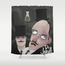 Jekyll and Hyde Shower Curtain