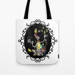 Cat in the Madness Hat Tote Bag