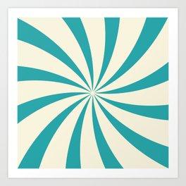 Teal Swirl Art Print