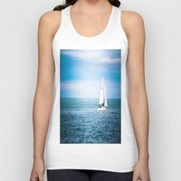 sailboat Tank Tops featuring Howth sailboat by Alyson Cornman Photography