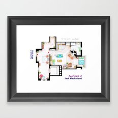 Jack MacFarland's apartment from 'Will and Grace' Framed Art Print