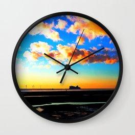 Belfast Ferry at Sunset Wall Clock