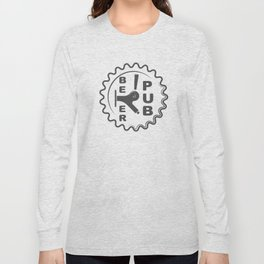 Beer Pub Brewery Handcrafted style Fashion Modern Design Print! Long Sleeve T-shirt