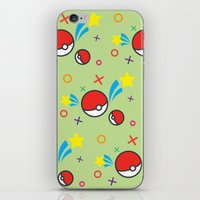 pokeball iPhone & iPod Skins featuring Pokeball pattern by Sierra