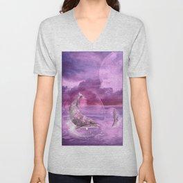 Dream Of Dolphins Unisex V-Neck