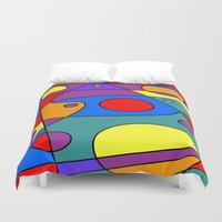 solar system Duvet Covers featuring Abstract #71 Solar System by Ron Trickett
