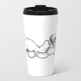 Reclining Skull Lady Travel Mug