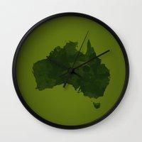 australia Wall Clocks featuring Australia by Jeremy Taylor Hamann