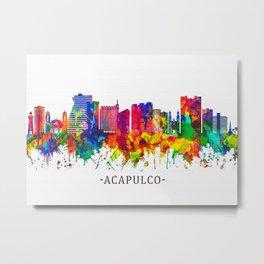 Acapulco Mexico Skyline Metal Print