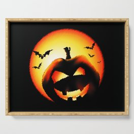 Smile Of Scary Pumpkin Serving Tray