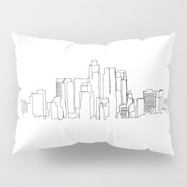 Los Angeles Skyline Drawing Pillow Sham