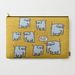 Elephant Cluster Carry-All Pouch