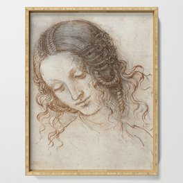 Leonardo da Vinci - Head of Leda Serving Tray