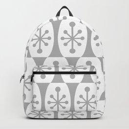 Mid Century Modern Atomic Fusion Pattern Grey Backpack