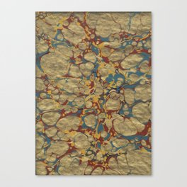 Marbled Gold Canvas Print