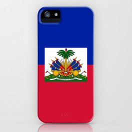 Haiti flag iPhone Case