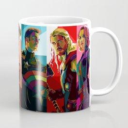 WPAP Avenger - Iron Man, Cap America, Thor, Black Widow, Hulk, Nick, Clint Coffee Mug
