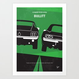 No214 My BULLITT minimal movie poster Art Print