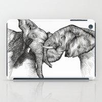 elephants iPad Cases featuring elephants by Lyudmila Kuguk