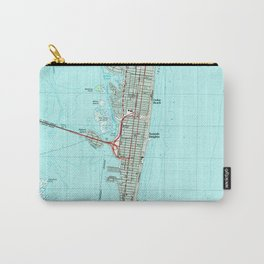 Seaside Park & NJ Shore Map (1989) Carry-All Pouch