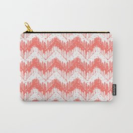 living coral forest chevron Carry-All Pouch