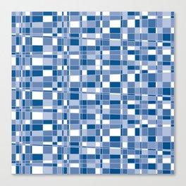 Mod Gingham - Blue Canvas Print