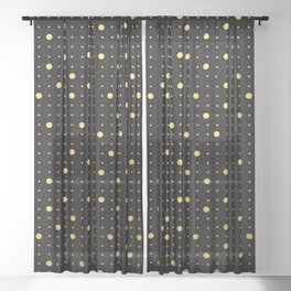 Pin Points Gold Sheer Curtain