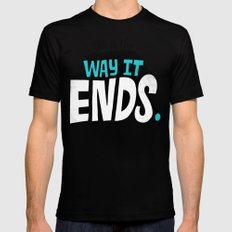 This is the way it ends. Black Mens Fitted Tee MEDIUM