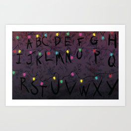 ABCD Art Print