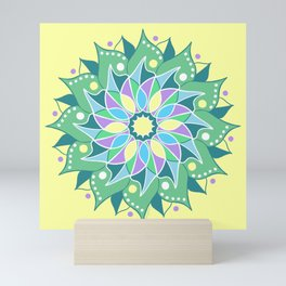 Healing Flower Mandala Mini Art Print