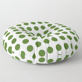 Simply Polka Dots in Jungle Green Floor Pillow
